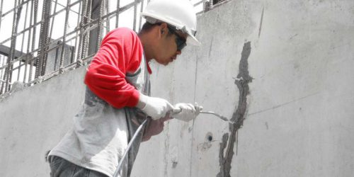 Pic-Repair Dry Crack on Concrete by SC-Inject (2)